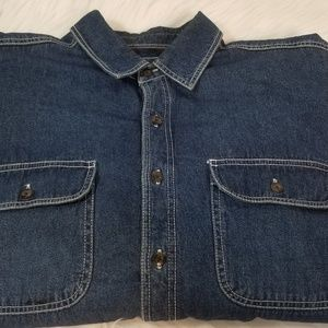 Levis Strauss Denim Flannel Lining Shirt Large